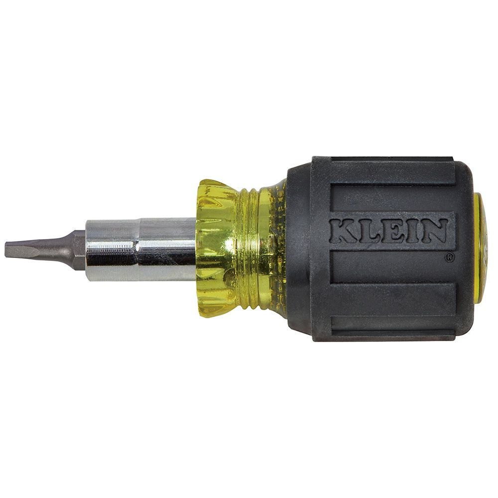 32562 KLEIN STUBBY MULTI-BIT SCREWDRIVER WITH SQUARE RECESS BIT AND 1-1/4'' (32 MM) SHAFT 09264432562