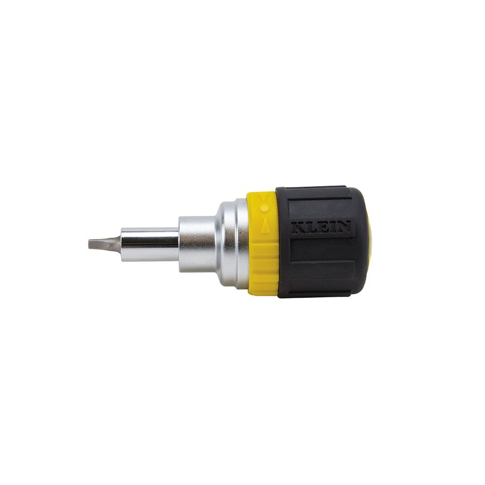 6-in-1 Stubby Screwdriver Square Recess