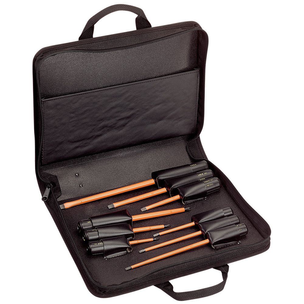 Klein 33528 9pc Insulated Screwdriver Set, Slotted & Phillips