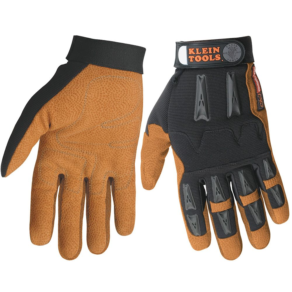 Thermal leather work gloves - Journeyman Leather Work Gloves Large
