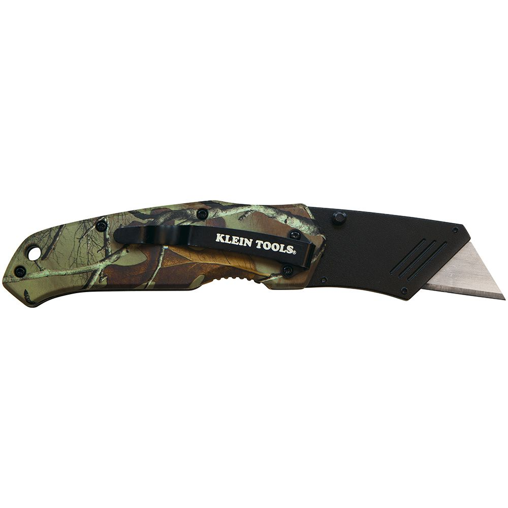 utility knives folding utility knife camo assisted open 44135 klein