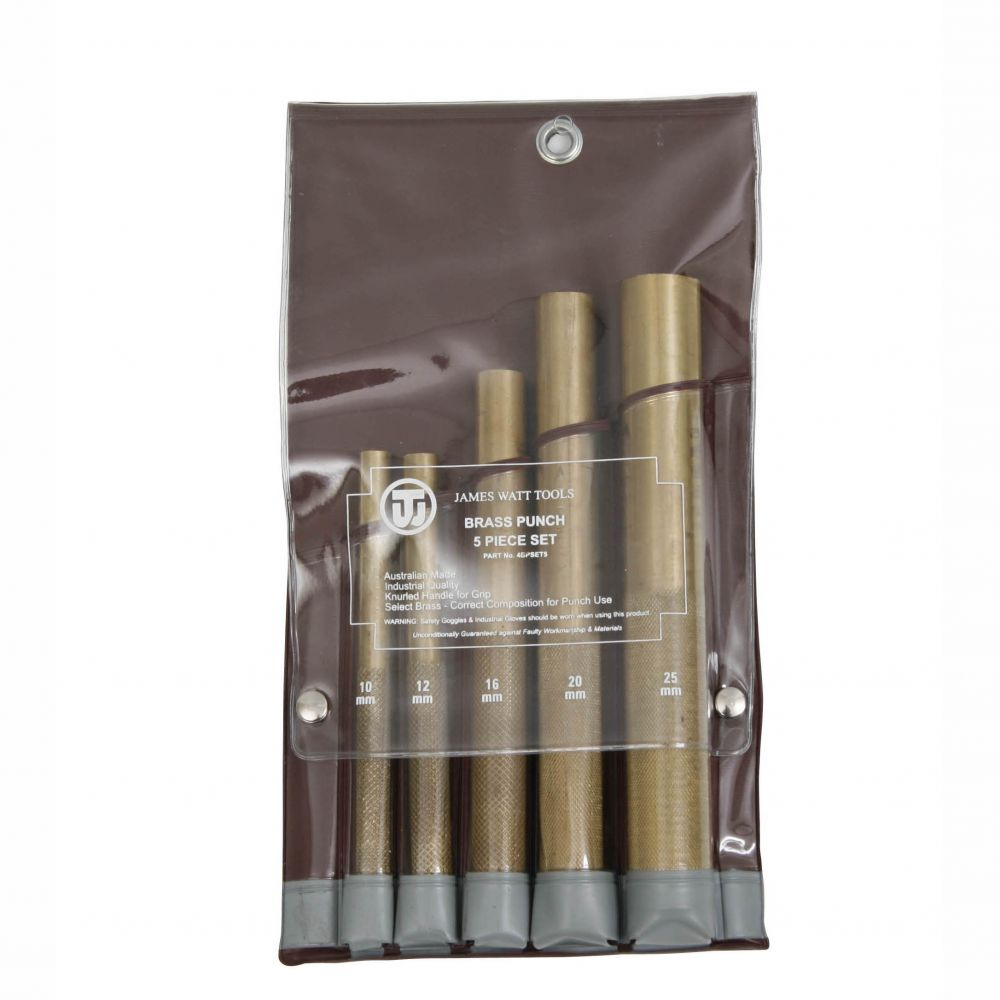 Brass Punches 5 Piece Set