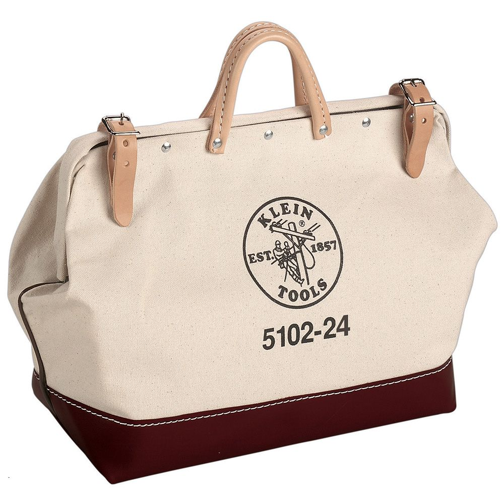 KLEIN 5102-24 24X15 CANVAS TOOL BAG