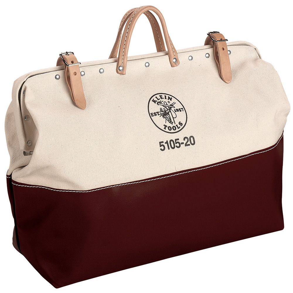 High-Bottom Canvas Tool Bag, 20-Inch