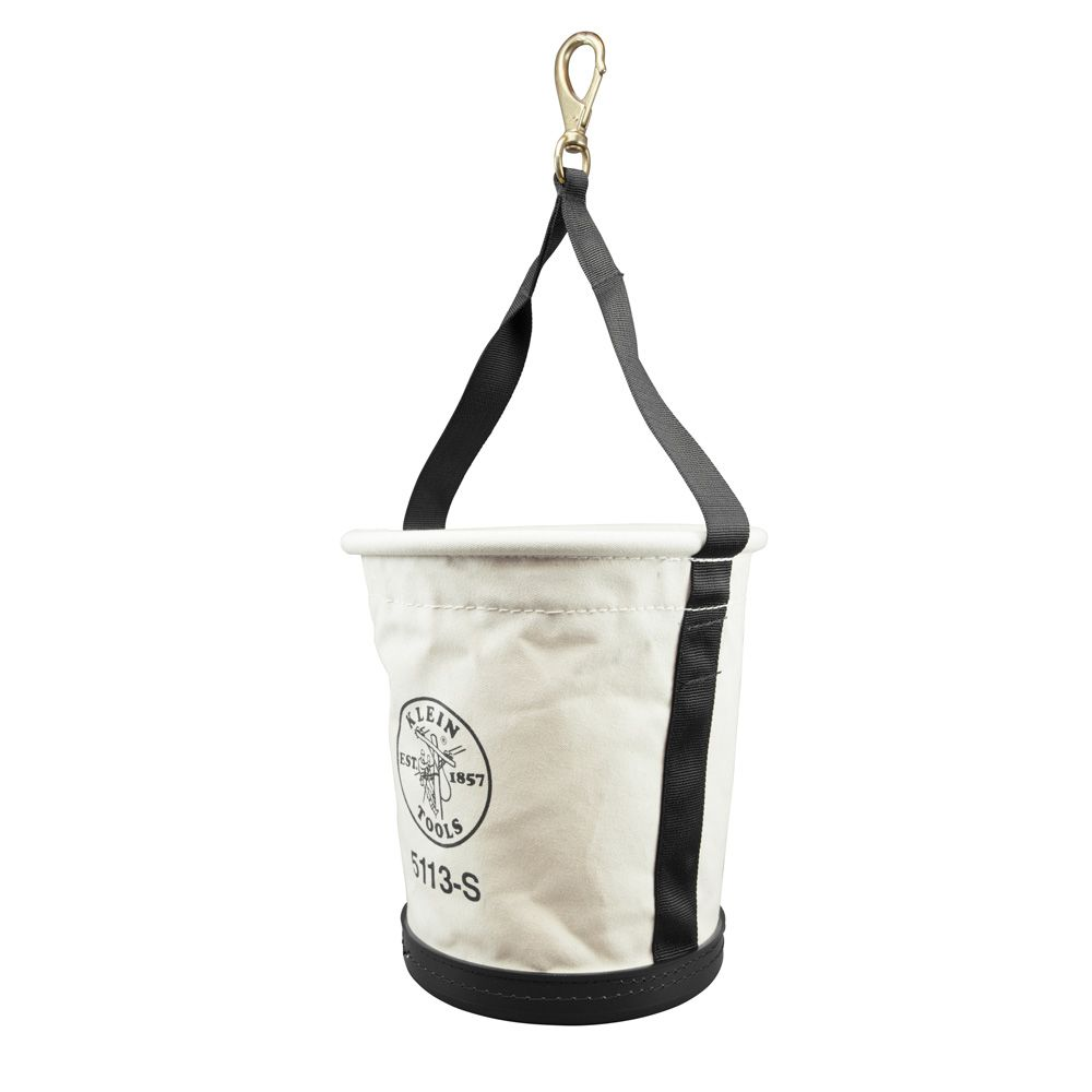 Tapered-Wall Bucket with Swivel Snap Hook, Canvas