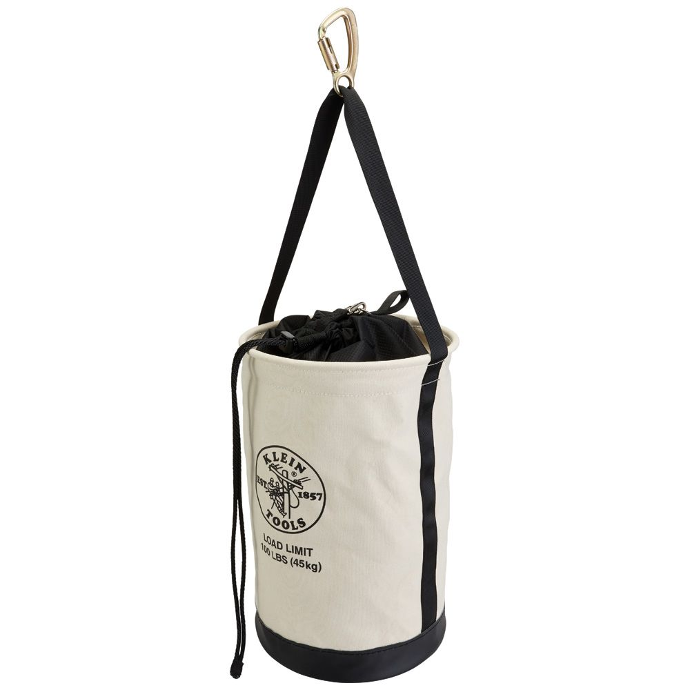 Canvas Bucket with Drawstring Close, 22-Inch