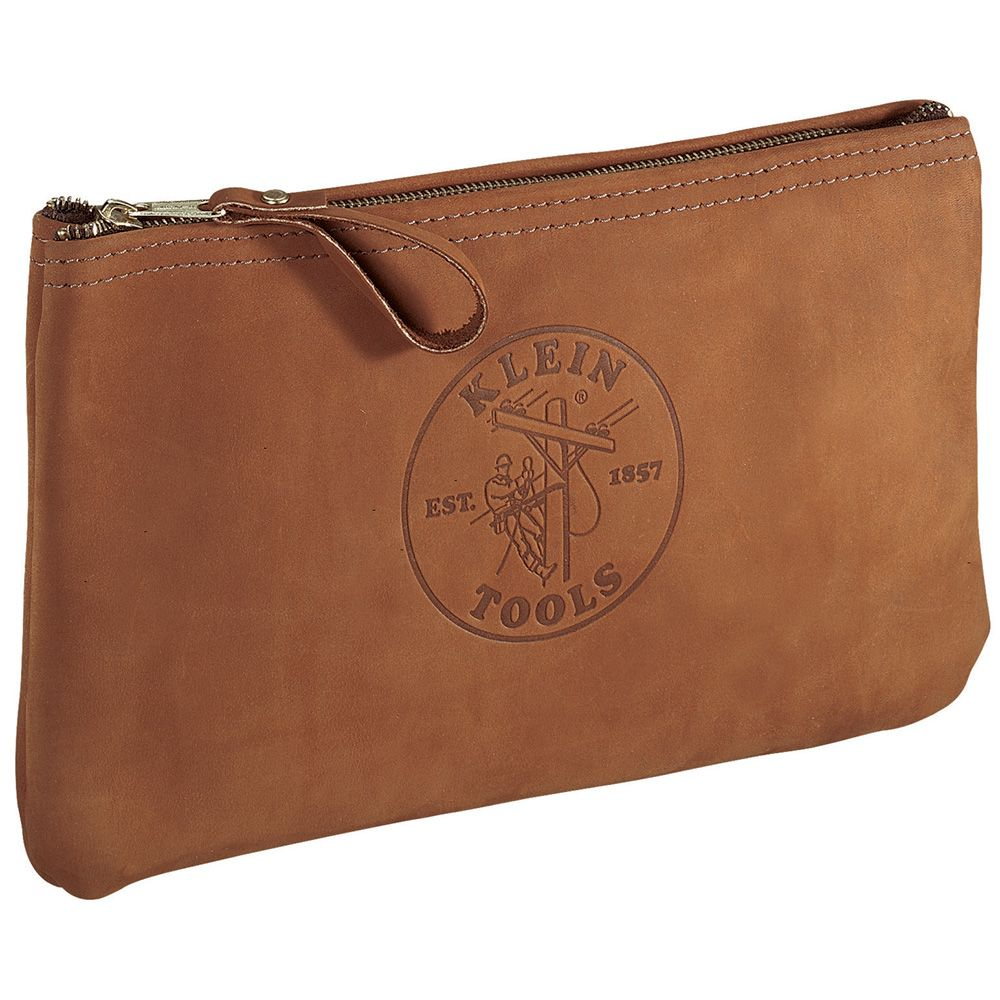 Top-Grain Leather Zipper Bag