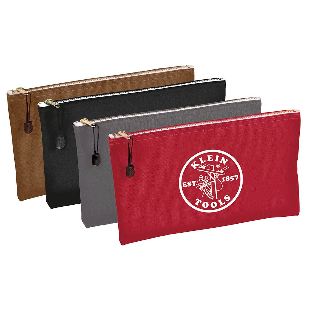 Canvas Bag 4 Pk Brown/Black/Gray/Red