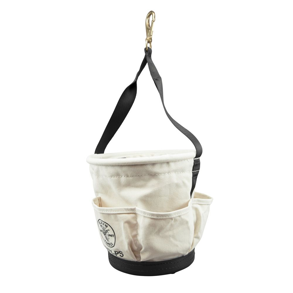 Klein 5171PS HD Tapered Wall Bucket w/ 4 Pockets