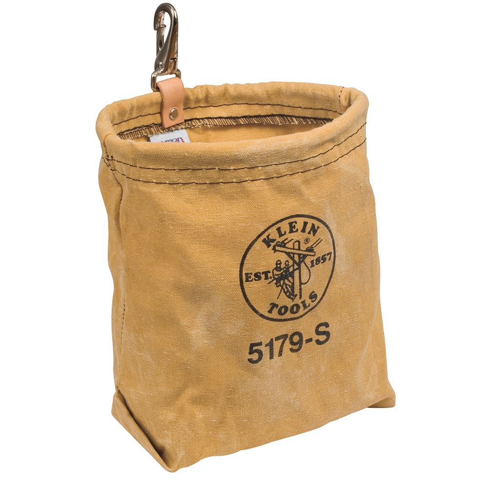 Water-Repellent Canvas Pouch with Snap