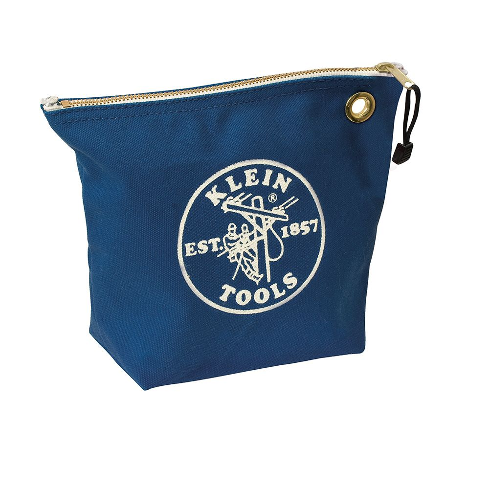 Canvas Zipper Bag- Consumables, Blue