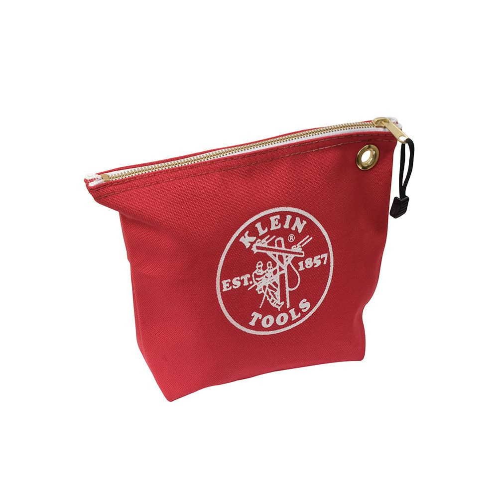 Zipper Bag, Canvas Tool Pouch, 10-Inch, Red