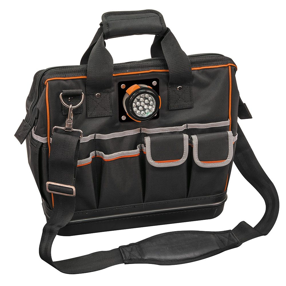 Tool Bag, Tradesman Pro™ Lighted Tool Bag, 31 Pockets, 15-Inch