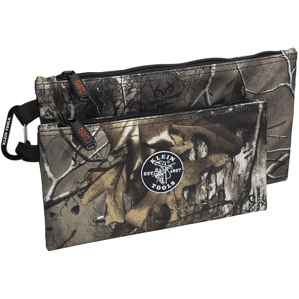 KLEIN 55560 Camo Zipper Bags, 2-pack