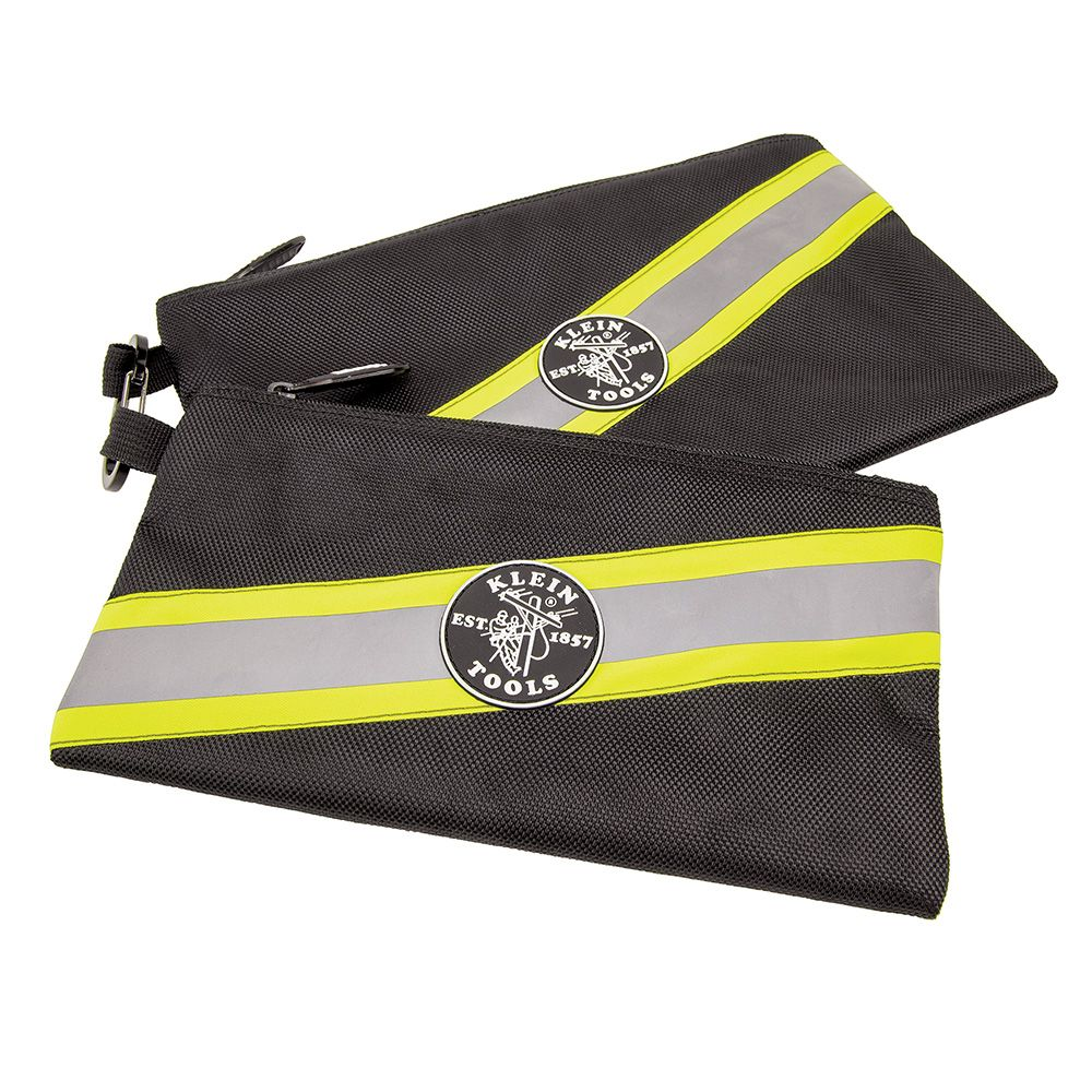 High Visibility Zipper Bags, 2-Pack