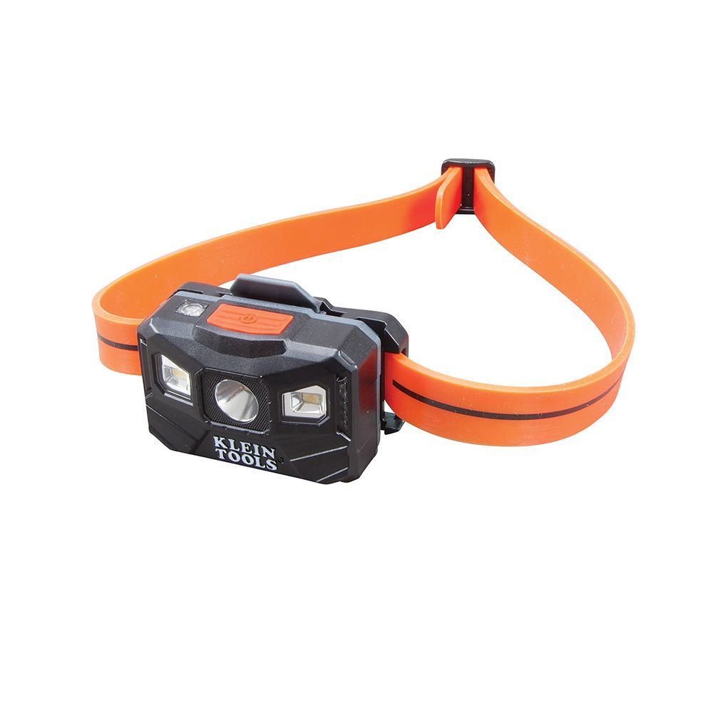 Rechargeable Headlamp with Strap, 200 Lumen All-Day Runtime, Auto-Off