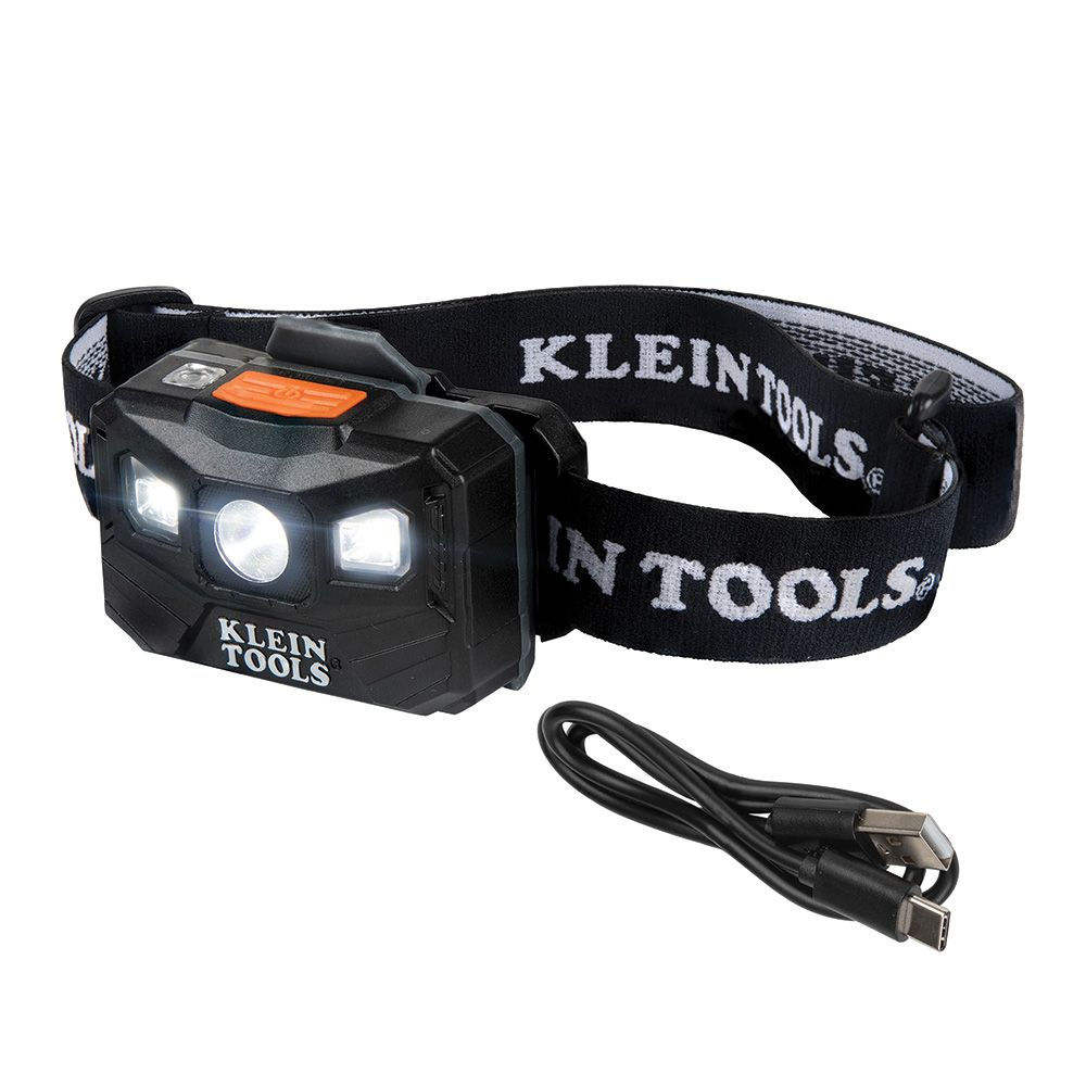 Rechargeable Headlamp with Strap, 400 Lumen All-Day Runtime, Auto-Off
