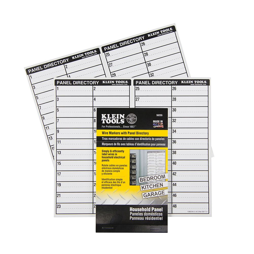 Wire Markers with Panel Directory