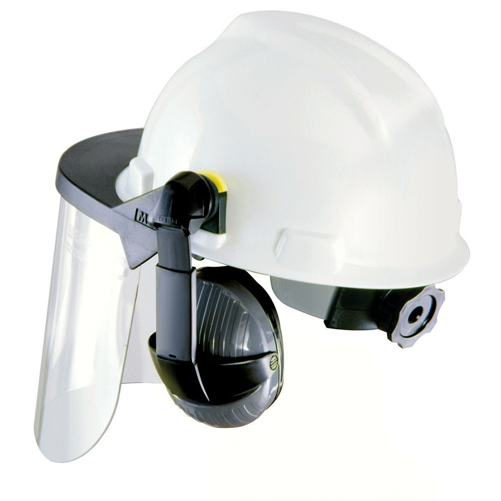 Visor for Hard Hats and Caps Clear