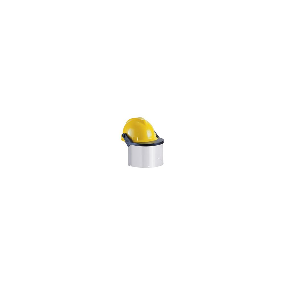 Visor for Hard Hats and Caps, Clear Flat