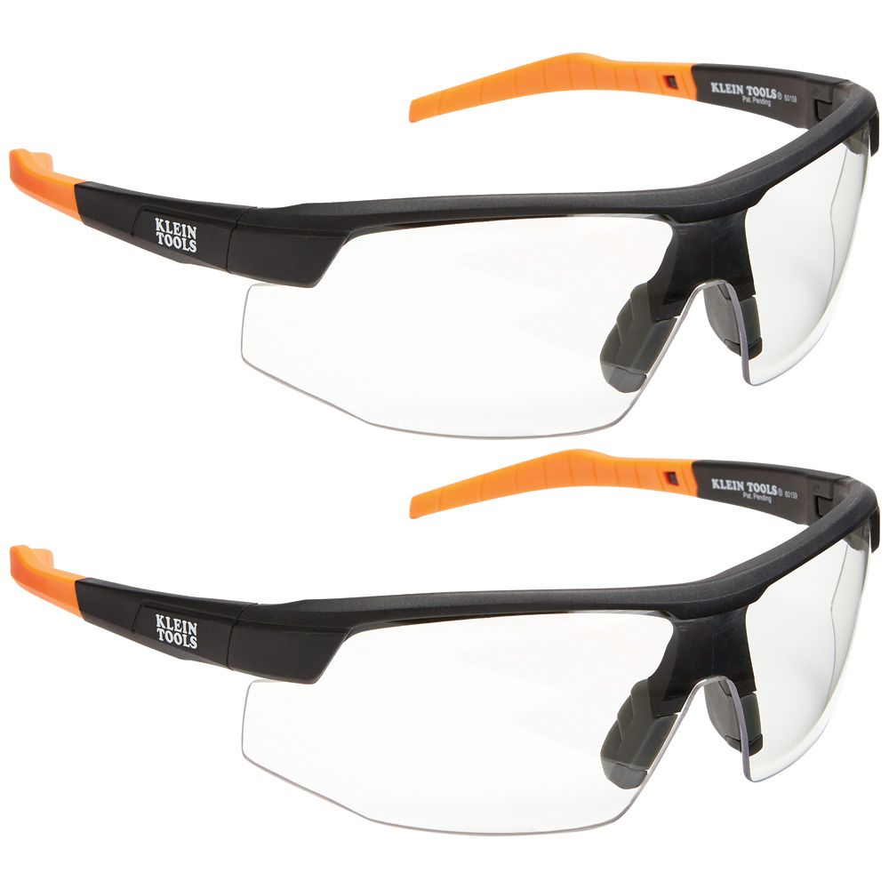 Standard Safety Glasses, Clear Lens, 2-Pack