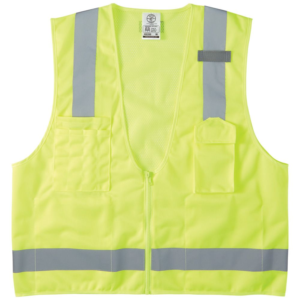 Safety Vest, High-Visibility Reflective Vest, M/L