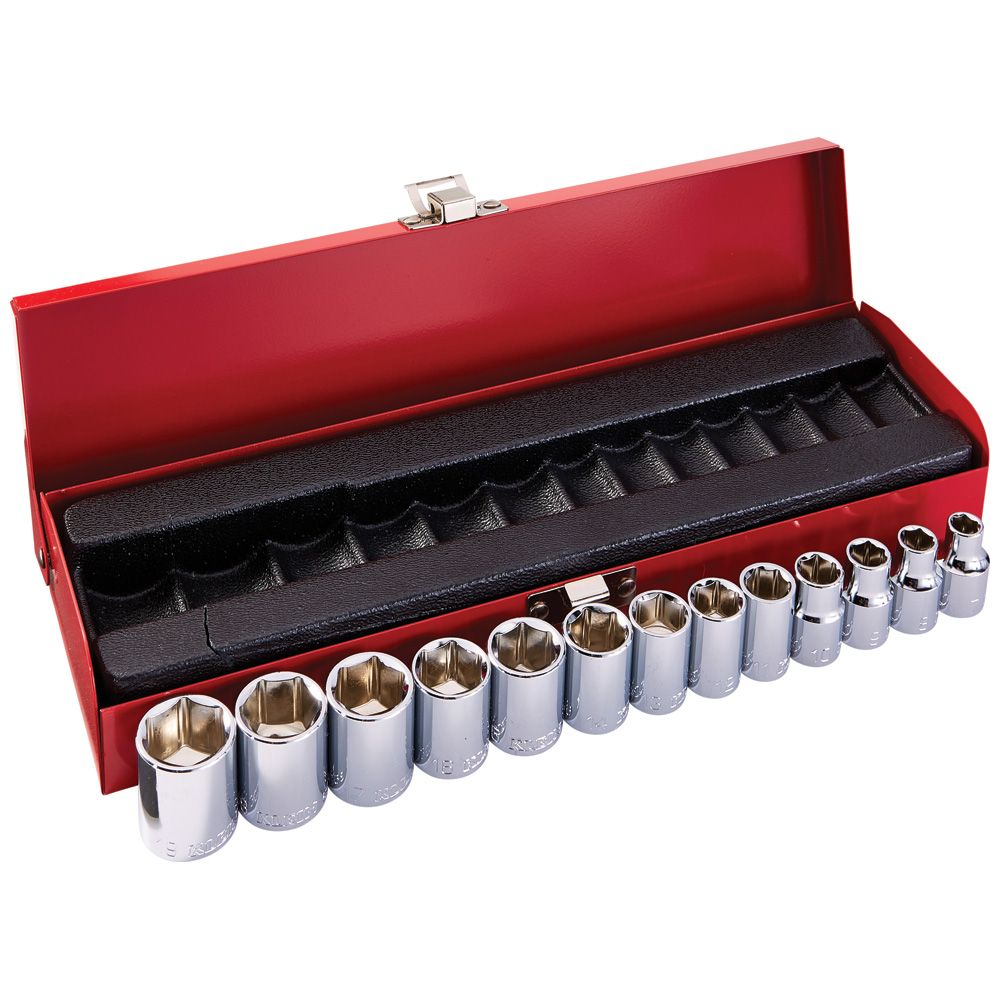 3/8-Inch Drive Socket Set, Metric, 13-Piece