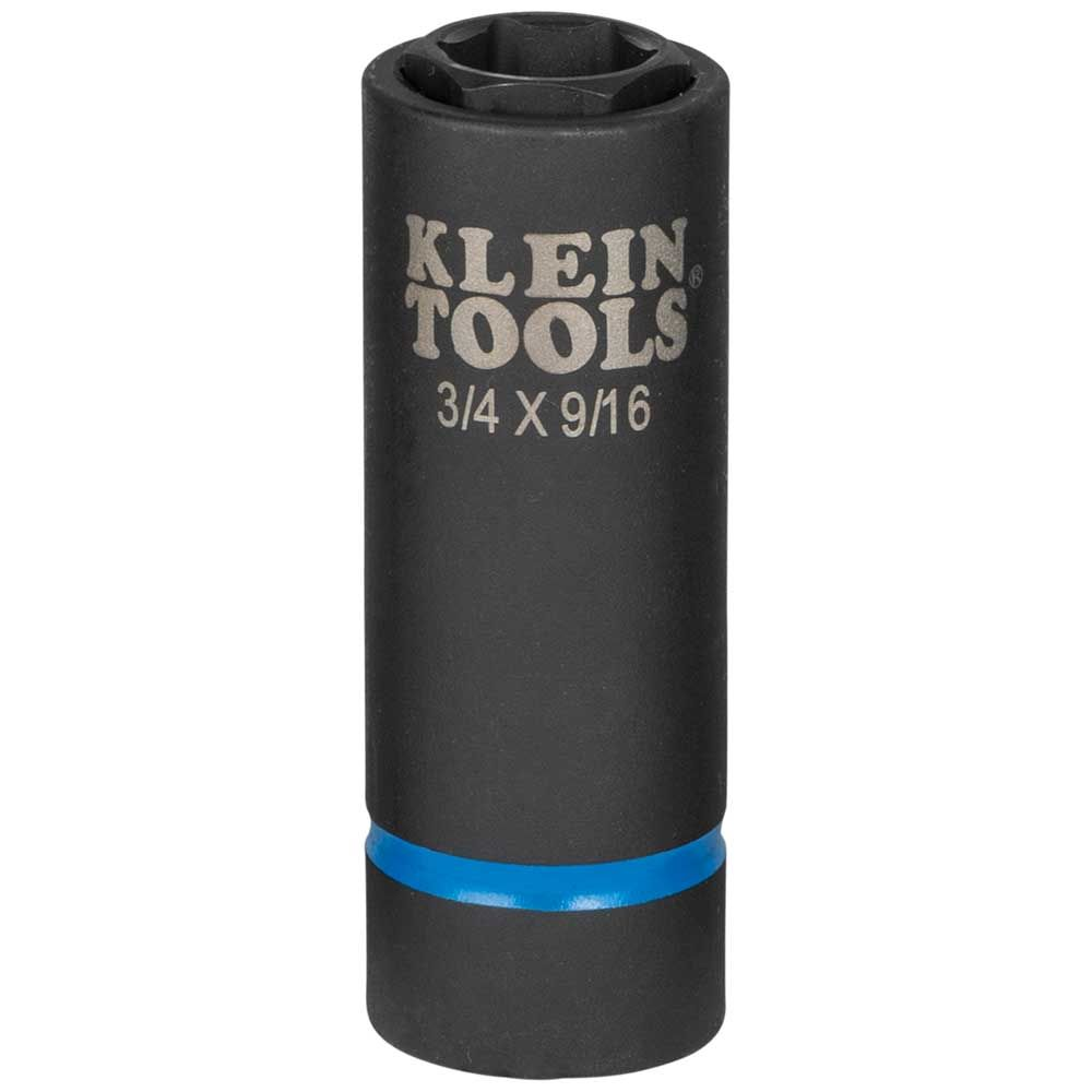 2-in-1 Impact Socket, 6-Point, 3/4'' and  9/16''