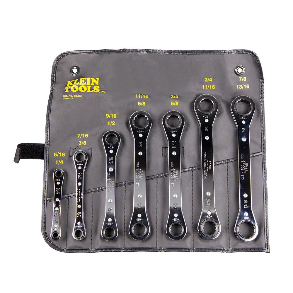 7 Piece Ratcheting Box Wrench Set