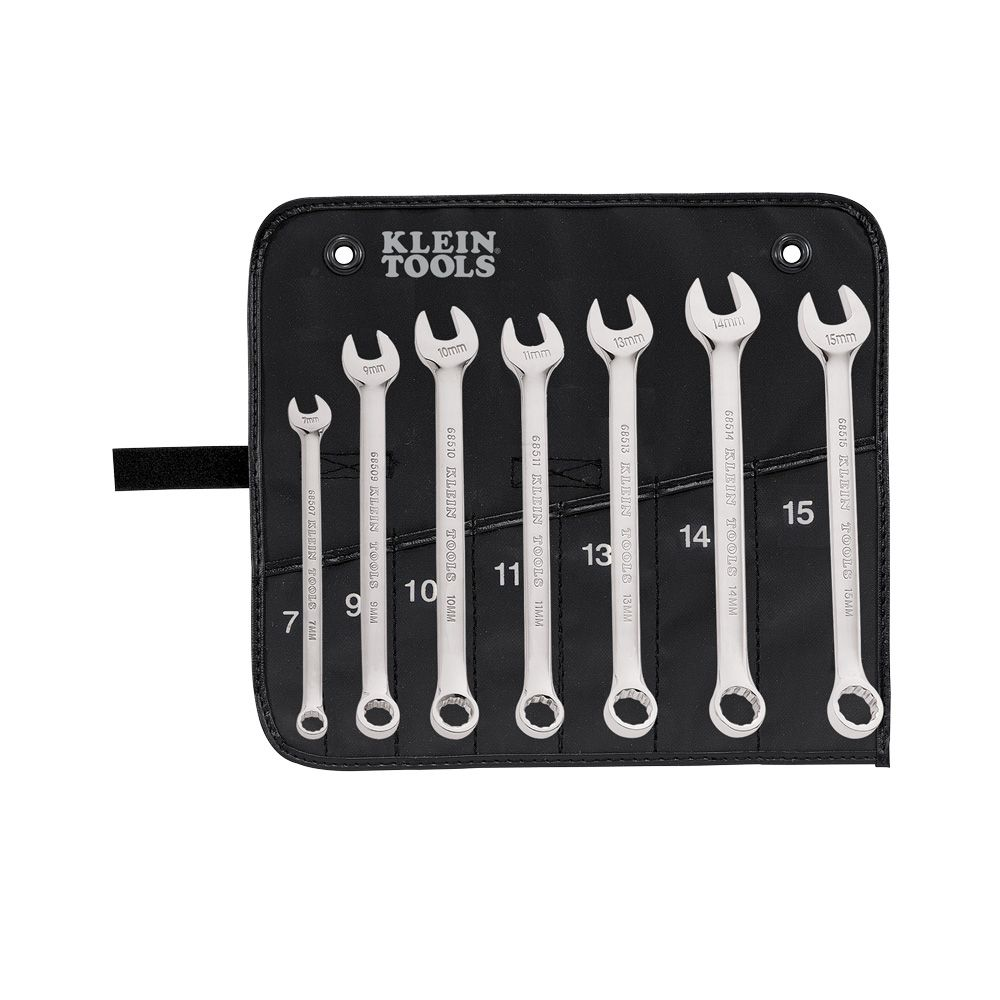 Combination Wrench Set, Metric, 7-Piece