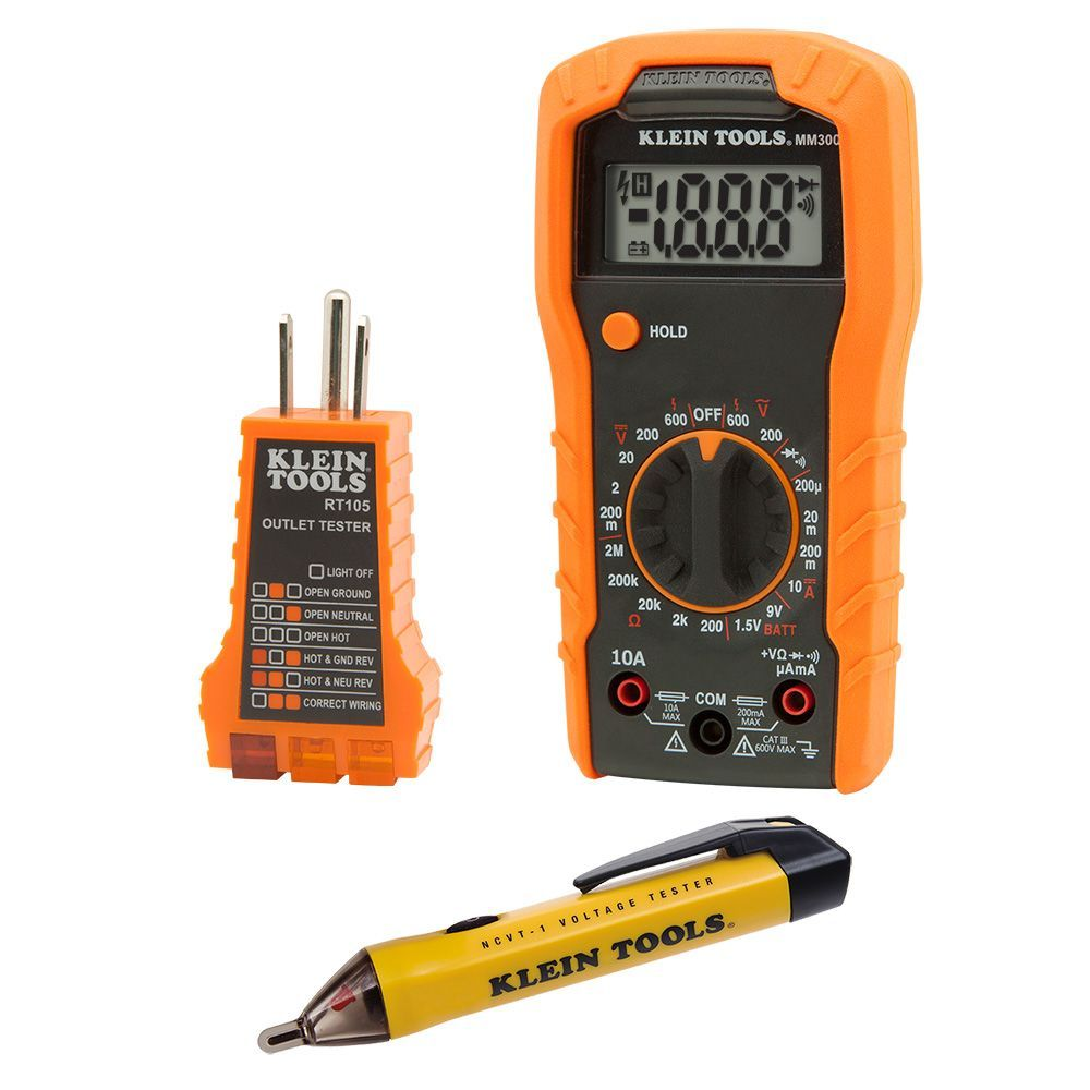 Electrical Meter Testers : Electrical test kit  klein tools for