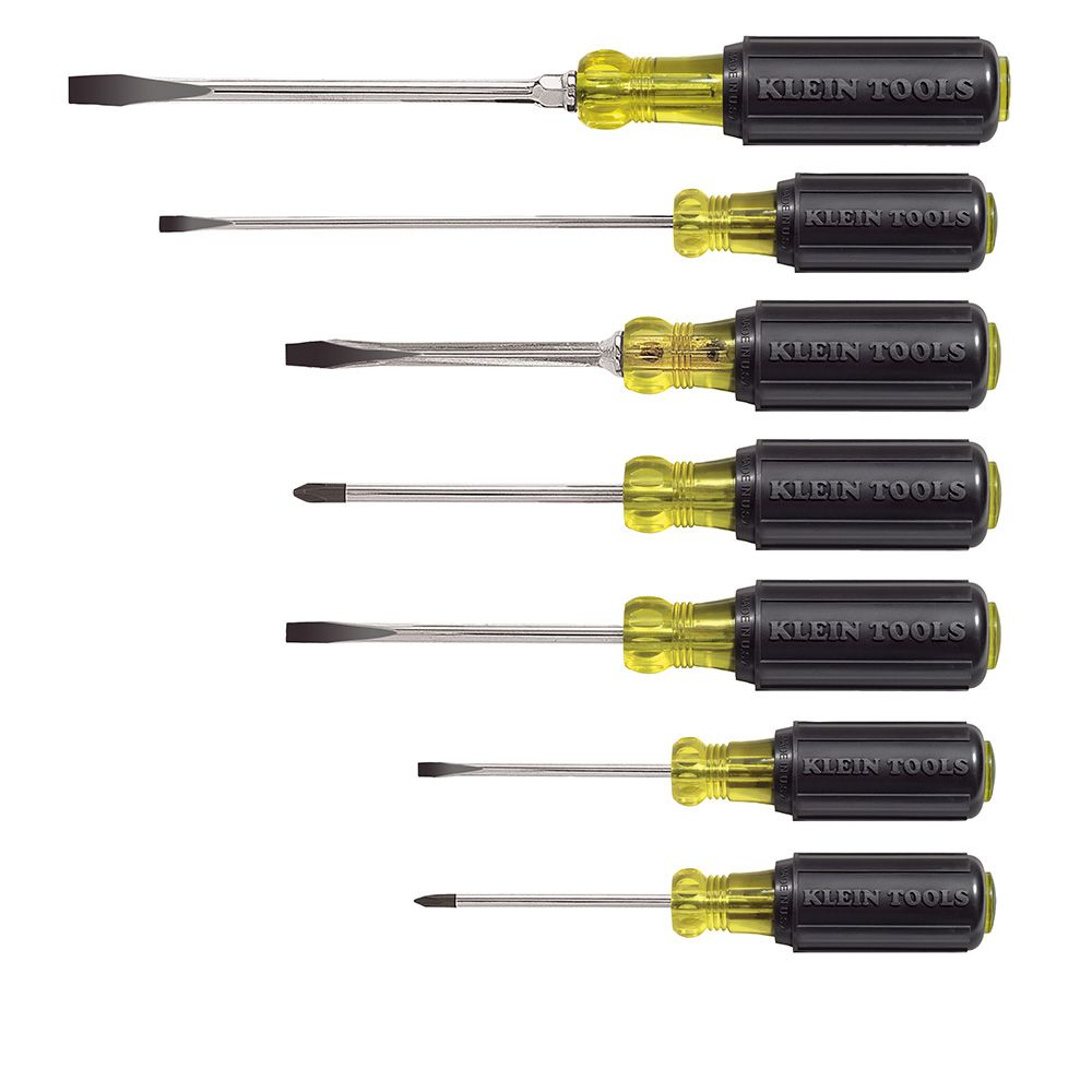 7 piece cushion grip screwdriver set 85076 klein tools for professionals since 1857. Black Bedroom Furniture Sets. Home Design Ideas