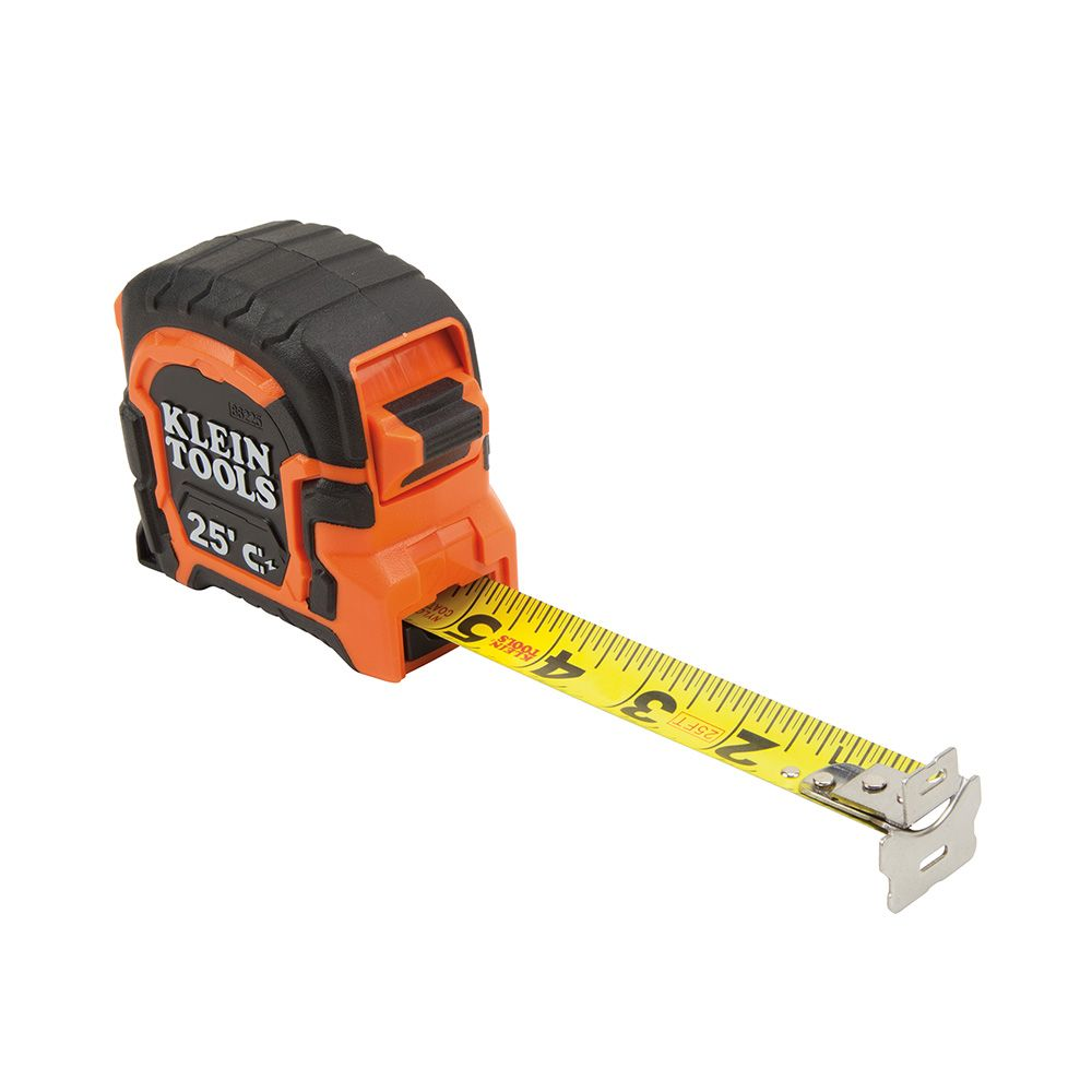 KLE86225 25' DOUBLE HOOK MAGNETIC TAPE MEASURE, KLEIN TOOLS