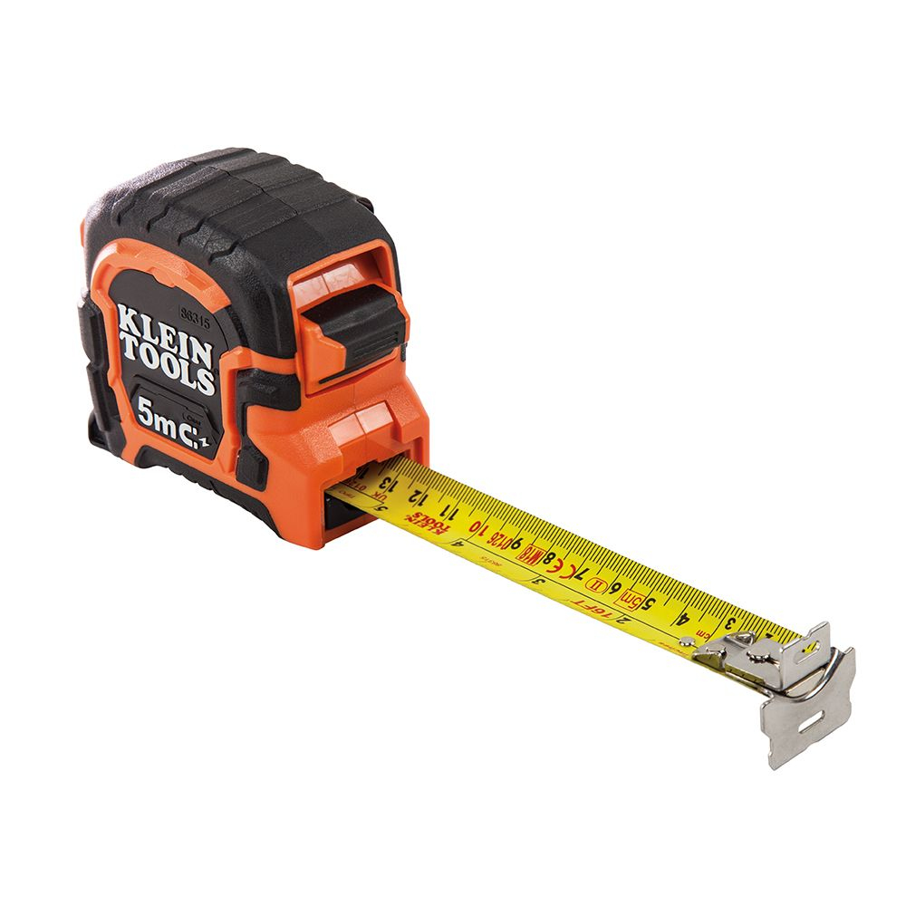Tape Measure 5m Magnetic Double-Hook, Metric / SAE
