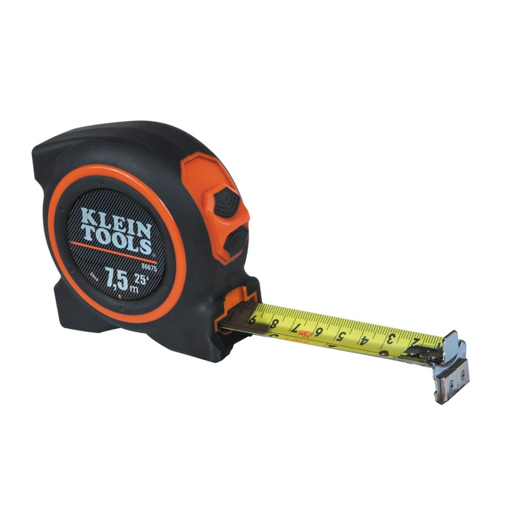 Tape Measure 7.5 m Magnetic Double Hook