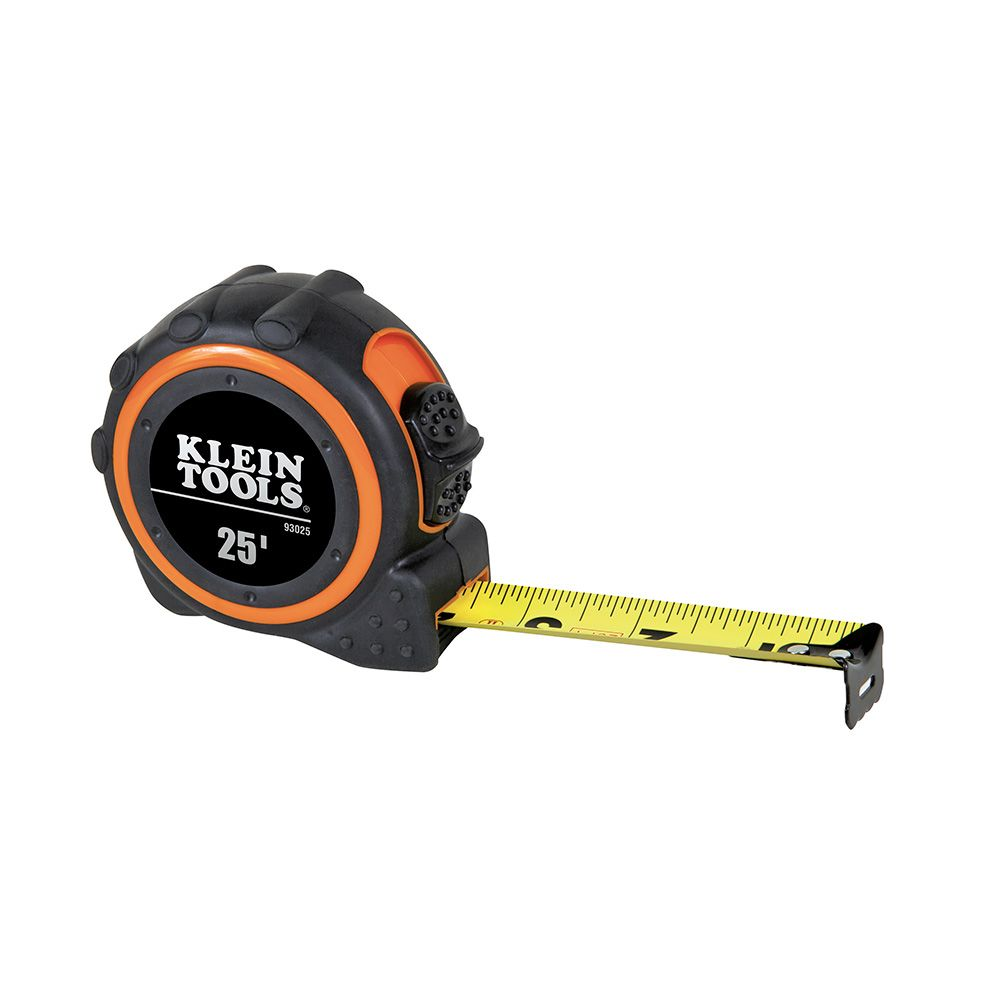 KLEIN 93025 DUAL-SIDED NON-MAGNETIC SINGLE HOOK TAPE MEASURE 25' X 1