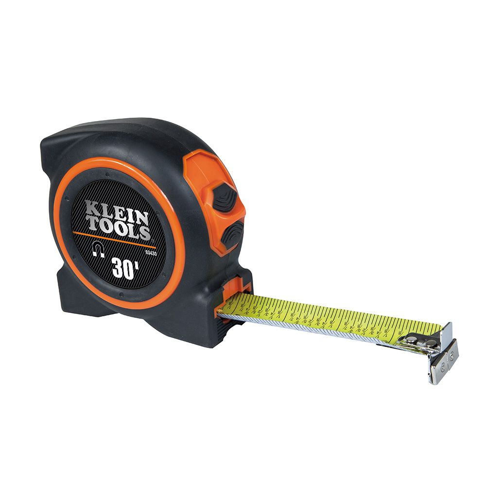 KLEIN 93430 DUAL-SIDED, MAG. DUAL-END HOOK TAPE MEASURE 30' X 1.06