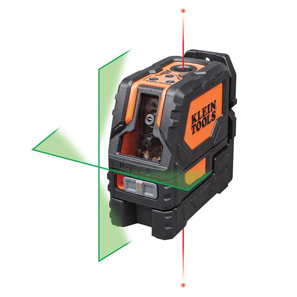 Laser Level, Self-Leveling Green Cross-Line and Red Plumb Spot
