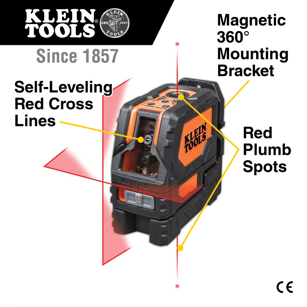 Laser Level Self Leveling Cross Line Level With Plumb