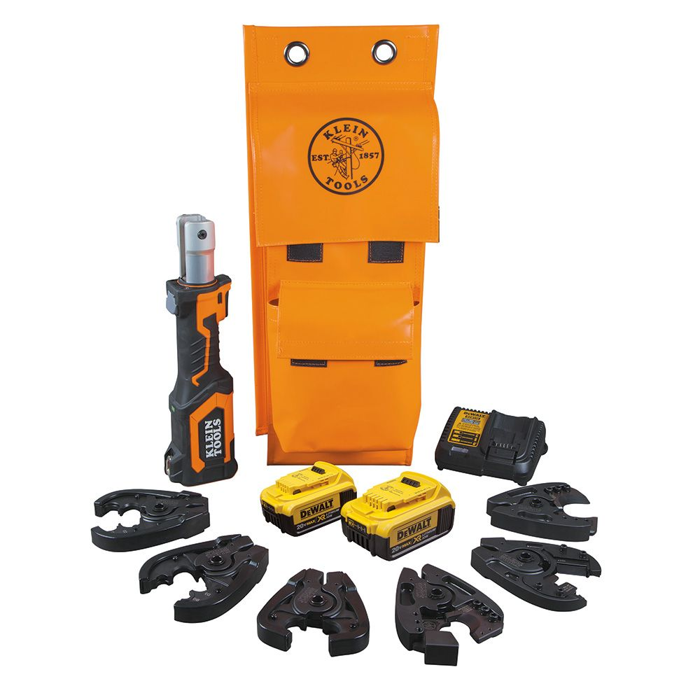 Battery-Operated Cable Cutter/Crimper Kit, 4 Ah