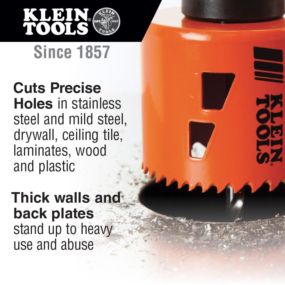BiMetal Hole Saw Inch Klein Tools For - 5 inch tile hole saw