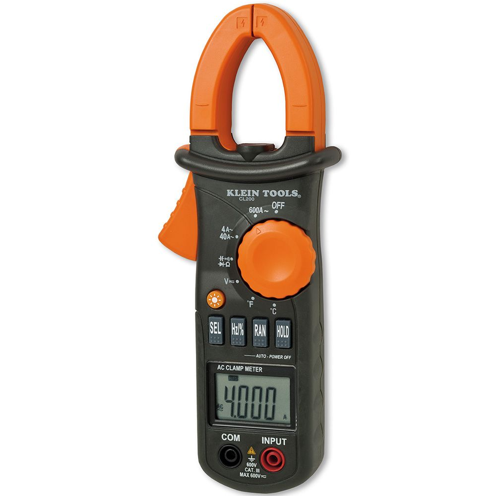 600A AC Clamp Meter with Temperature