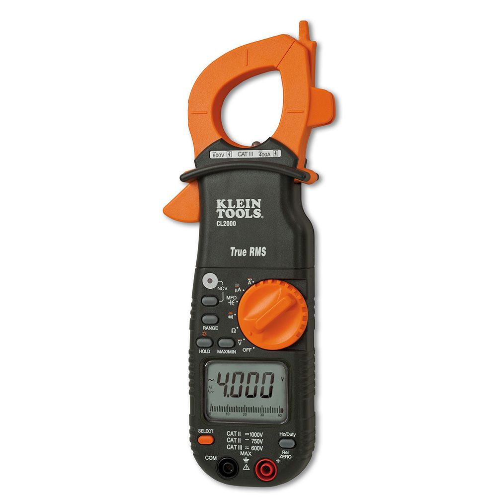Ac Dc True Rms Clamp Meter : A ac dc true rms clamp meter cl klein tools