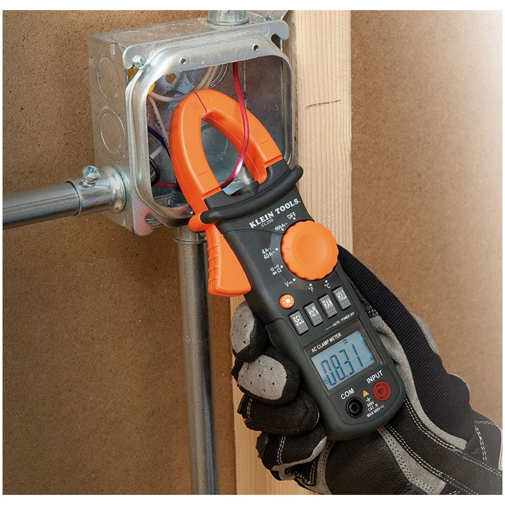 Ac Clamp Meter : A ac clamp meter with temperature cl klein tools