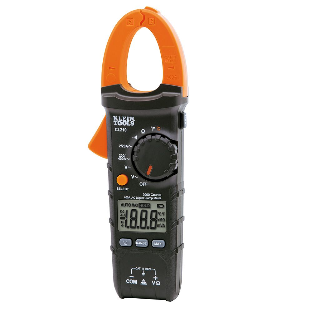 KLE CL210 Digital Clamp Meter, AC Auto-Ranging, 400A