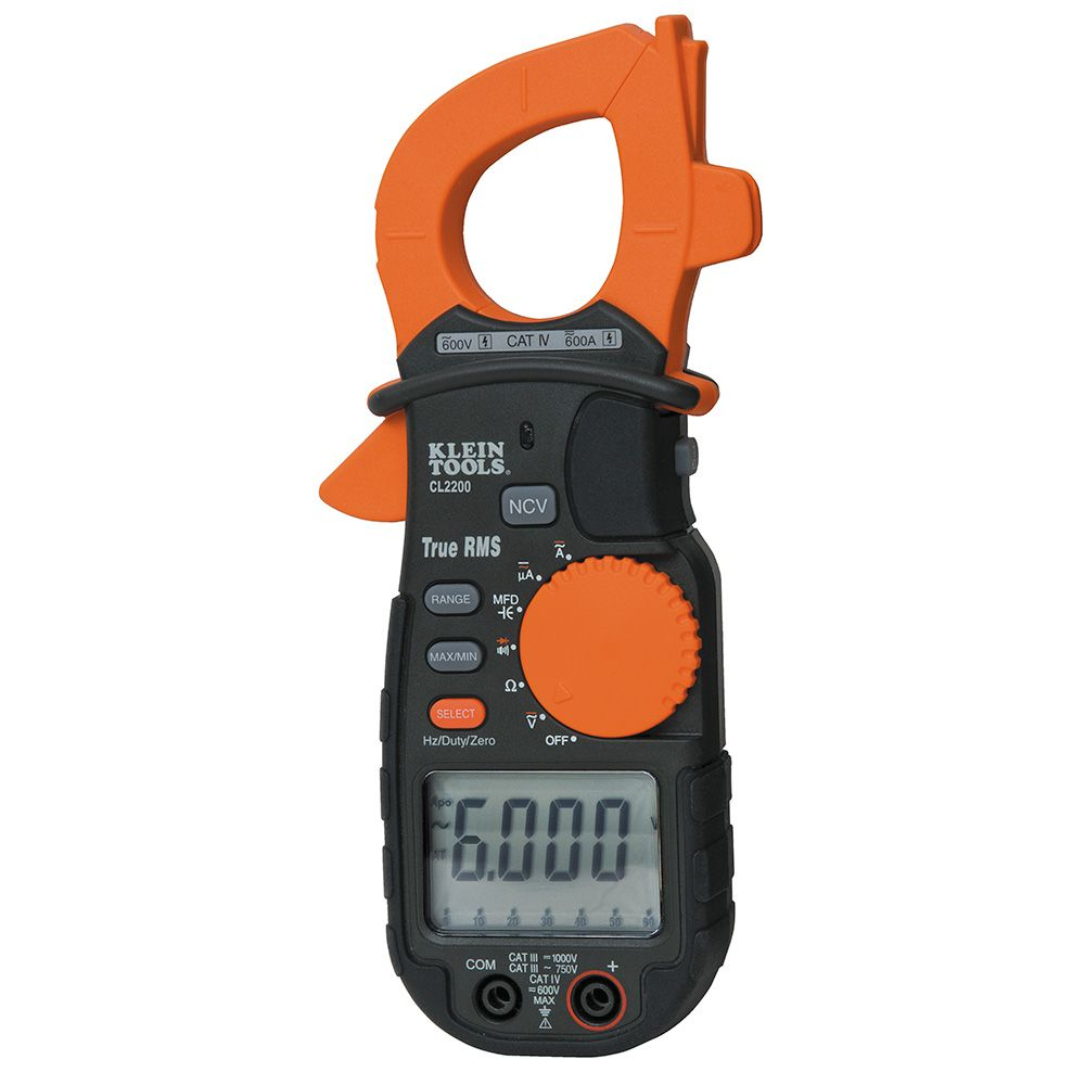 600A AC/DC True RMS Clamp Meter