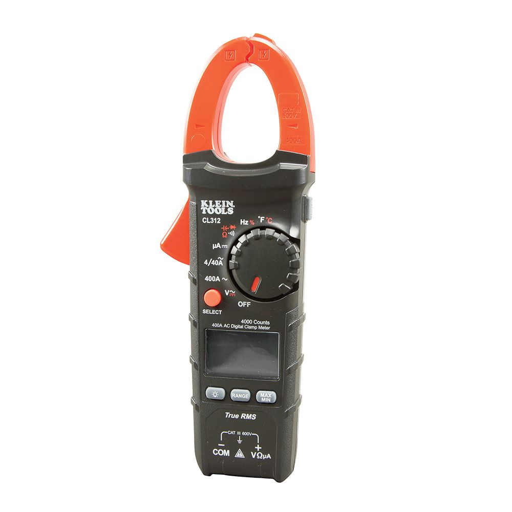 A Digital Clamp Meter 400 : A ac auto ranging digital hvac clamp meter cl