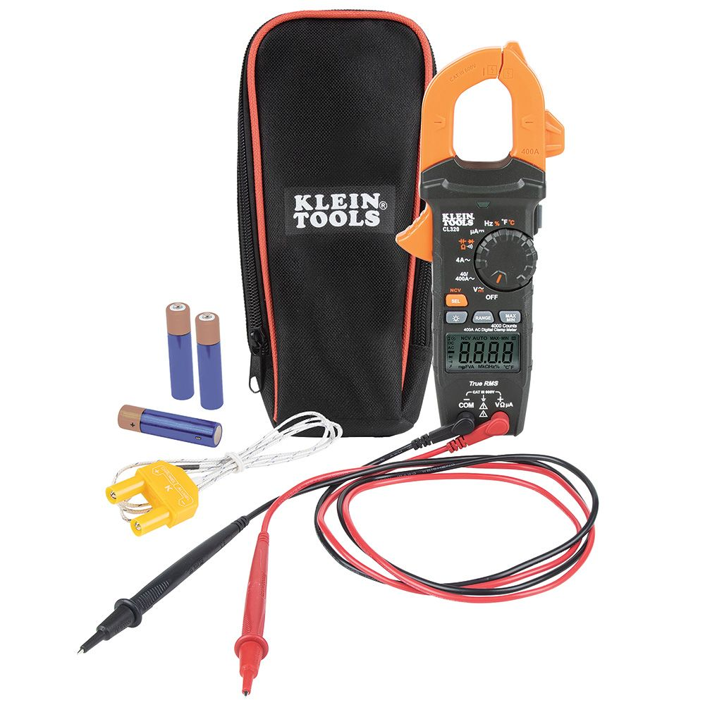 HVAC Digital Clamp Meter, AC Auto-Ranging 400 Amp