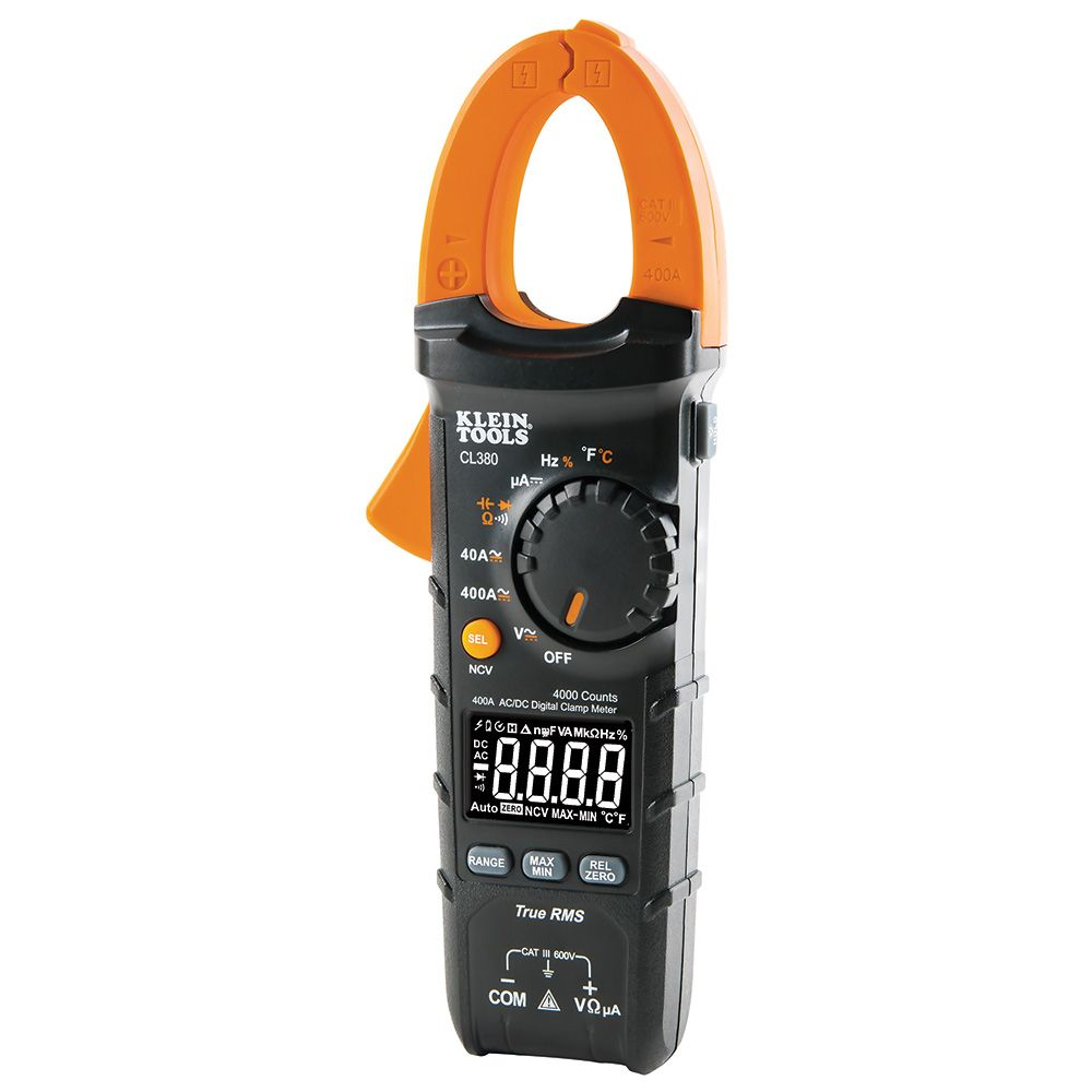 KLEI CL380 AC/DC DIGITAL CLAMP METER, 400A AUTO-RANGING
