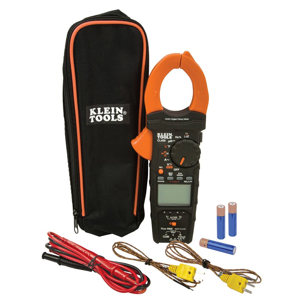 Electrical Tester, HVAC Clamp Meter with Differential Temperature